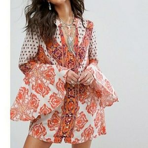 FREE PEOPLE MAGIC MYSTERY bell sleeve tunic